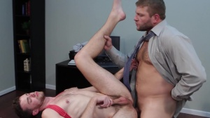 The trickle - Colby Jansen with Brandon Moore ass fuck