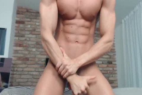 Eluan Jeunet - Flirt4Free - ideal Ripped Model Stroking His throbbing weenie