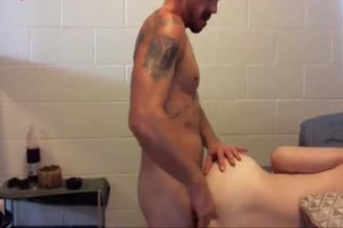 Tattooed guy acquires pounded hard