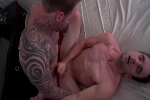Tattoo bottom butthole sex with creampie