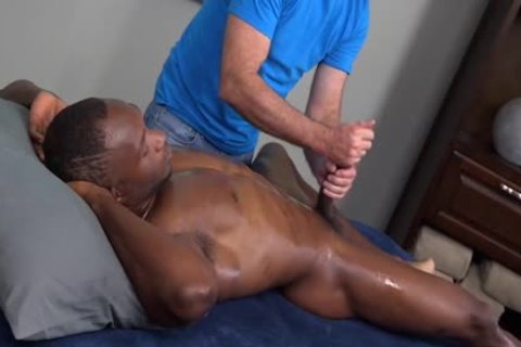 Homosexual hunk enjoys butthole from excited lad during massage