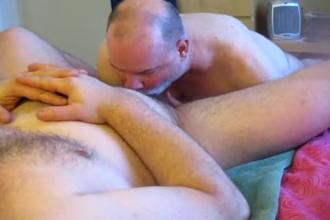 Excited homo non professional males making love