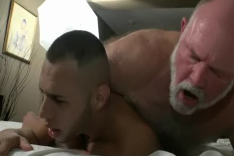 bushy old man Has messy Sex With A filthy young penis
