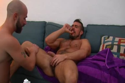 Frat buddy stalks another and dominates him
