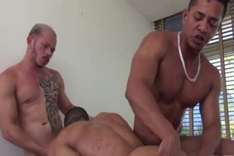 Sleazy latin threeway with dp