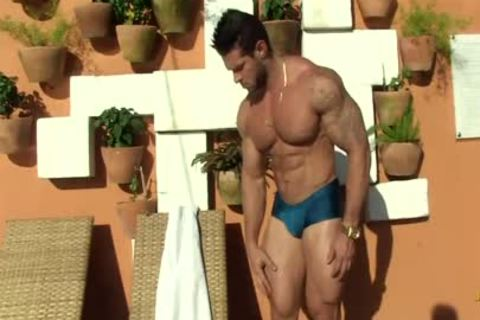 Gil Baiano - Clay Stone - tasty Oiled Hung Bodybuilder