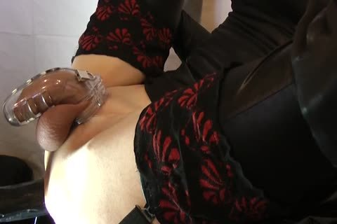 Sissy receives fucked With Chastity Belt