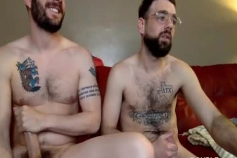 Two homosexual men Have Steamy Sex On The Red Sofa