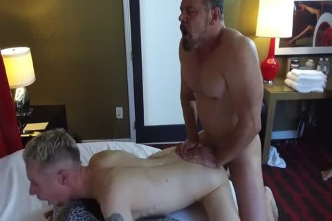 Robert Rexton receives fucked By Muscle Daddies Max Sargent & Chance Caldwell
