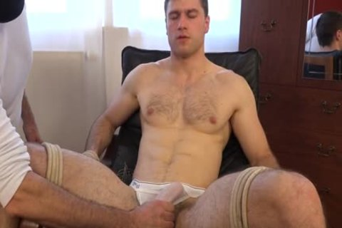 Tomas Salek tied, booty-plug, Milking And Cumming