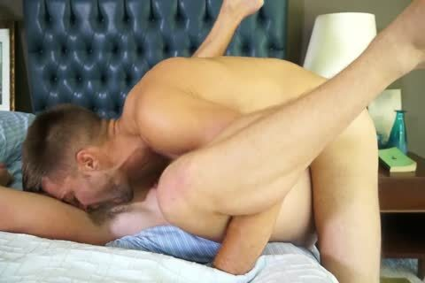 Randyblue.com Hung hairy Daddy stud pokes A Load Of spooge Into homosexual chap