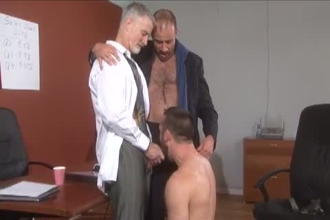 Daddy Suit And Tie threesome fuck