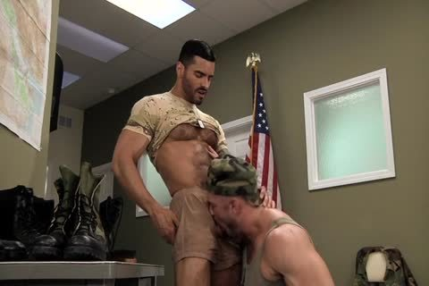 Army men men Polishing Each Other's Boots
