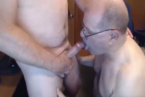 Bear sucking and getting poked by non professional twink