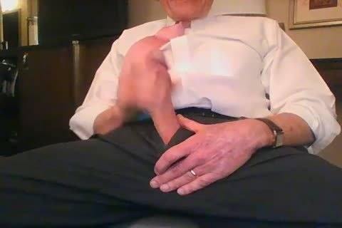 large Dicked dad jerking off 001