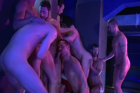 plow - Nine-fellow bareback orgy