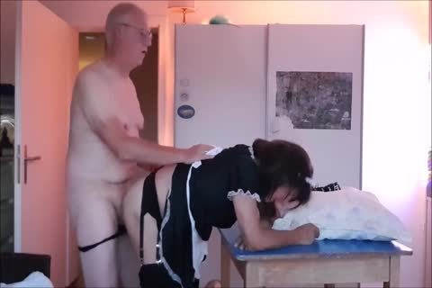 Maid Sissy Cleans abode Sucks 10-Pounder gets poked