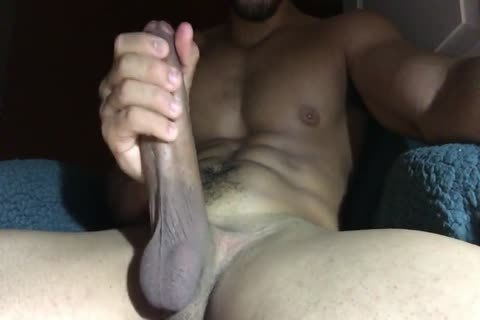 Stroking thick dick For one more thick cum Load