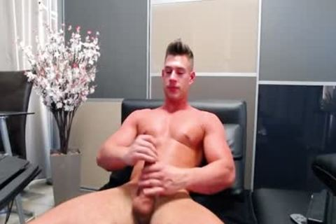 Flirt4Free - Aiden Kay - sexy Blue Eyed College fellow Jerks His biggest dick