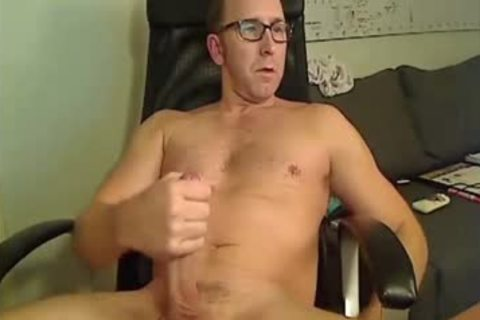 couple Of Dads Stroking