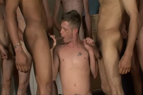 His First raw Bukkake gangbang - Bukkake males