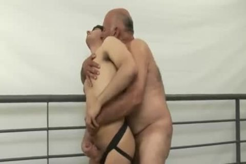 fascinating hairy older man Tops young man