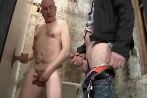 Daddy & daddy man engulfing penis At Gloryhole