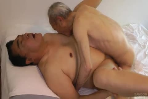 Japanese plump Daddy Sex With humongous 10-Pounder grandpa