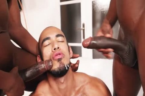 Louis Ricaute With two black guys
