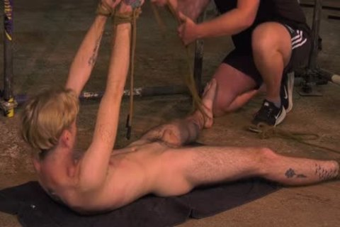 Skinny juvenile gay Jacob Daniels bound And Used By lewd master