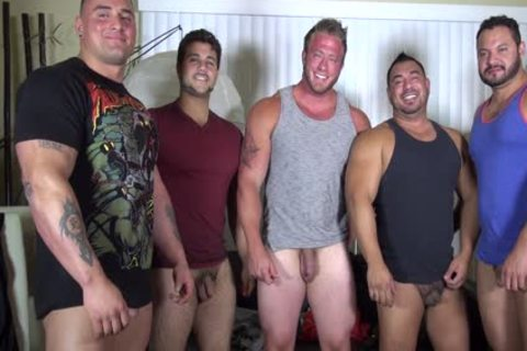 naked Party  LATINO Muscle Bear abode - dilettante joy W/ Aaron Bruiser