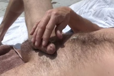 Precum Then Aloe Plant To Lube My shlong outdoors For stroking
