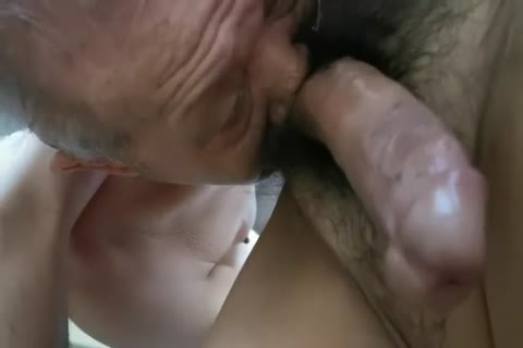 fascinating Chinese grandad sucking jock & Getting slammed