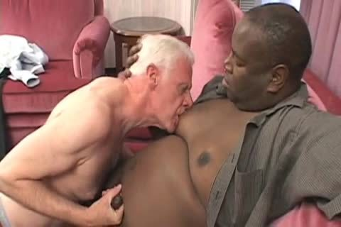 Senior hammered By fat black Younger boy