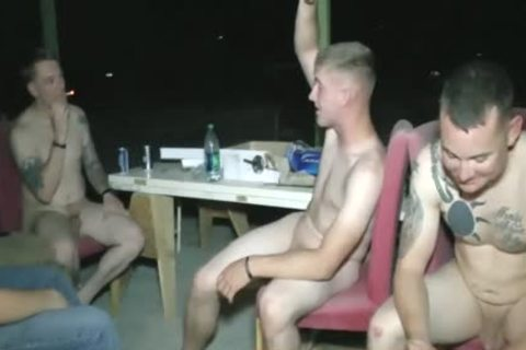 Straight Marine Buddies undressed Beer Pong