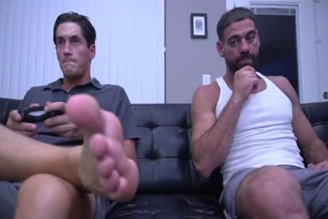 Tony Orlando And Ricky Larkin - delicious Foot Job Scene