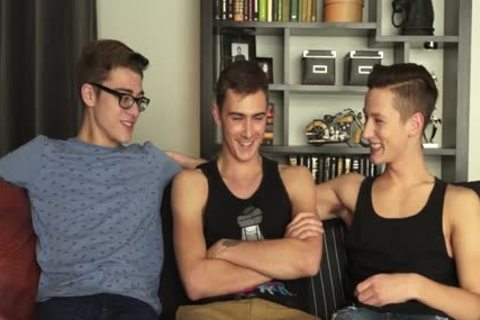attractive twinks unprotected threesome And oral-sex-service