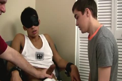 homosexual twink First Time engulfing A Restrained Straight large knob