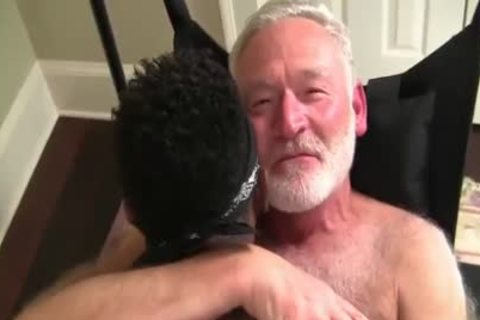 Favourable Daddy Acquires A Hard Darksome knob