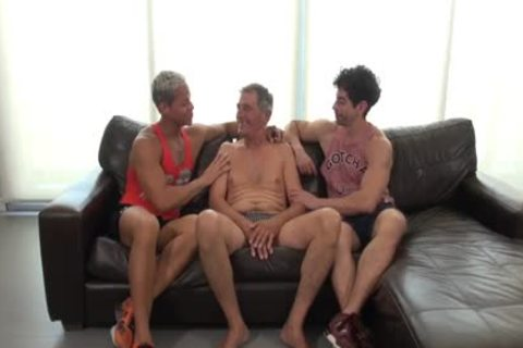 TWO youthful LATINS IN LOVE WITH DADDY