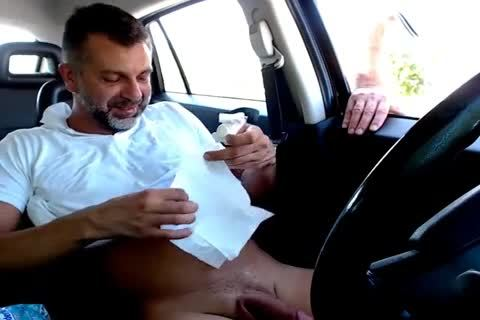 Receiving A Helping Hand From A Stranger In Car