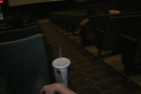 Public homo sex -- In a banging movie theater!