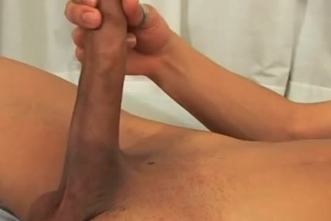 oriental with a monstrous jock beats his meat