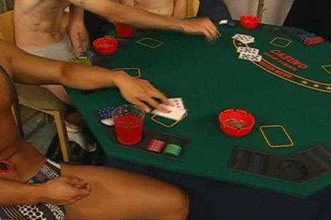 strip poker inevitably leads to lusty homosexual sex