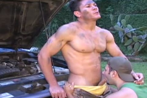 Muscular black hunk jerks off and cums